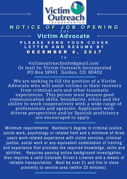 Victim Outreach Inc. - Jefferson County, Colorado
